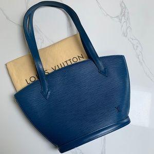 LOUIS VUITTON St Jacques EPI GM blue shoulder bag